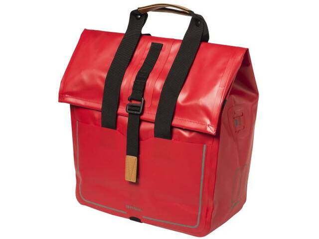 Basil Urban Dry Shopper Torba rowerowa 25l czerwony